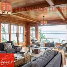 Loewen windows are constructed with Coastal Douglas Fir or Mahogany to create a beautiful natural wood interior.  #friestallman #reginaspringhomeshow #springiscoming #homerenos #renovations #yqr #regina #homeshow