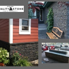 Quality Stone is 'installer friendly', allowing you to quickly and easily do your own stone makeover.  #friestallman #reginaspringhomeshow #springiscoming #homerenos #renovations #yqr #regina #homeshow