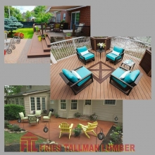 Do you want a deck or a patio? Think about whether you want a deck, patio or both? *Decks are raised platforms most often made out of wood or a composite material *Patios are at ground level and are often paved or made with paving stones.  What would you