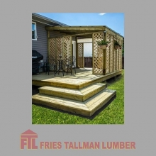 Pressure treated lumber is ideal for outdoor construction as it has a long, useful life span and is much less expensive than alternatives. #friestallman #yqr #planahead #deckseasoniscoming #deckdesign #yard #decks #decklife #regina #outdoor #spring #sprin