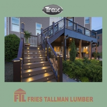 A great barbecue doesn't end just because the sun went down. Let your deck glow through the night with built-in illumination that's also built to last. #friestallman #yqr #planahead #deckseasoniscoming #deckdesign #yard #decks #decklife #regina #outdo