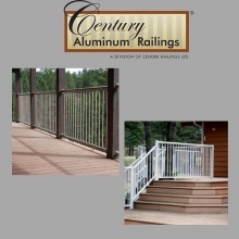 Century's component picket railings were designed with both the do-it-yourself homeowner and contractor in mind. The easy to install system will allow you to enjoy your deck sooner. #friestallman #yqr #planahead #yard #decks #decklife #railing