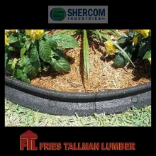 A beautiful yard is the first impression of any home. 100% recycled rubber landscaping edging that is proven both strong and flexible. It is durable in all weather while maintaining its flexibility.  #friestallman #fortquappelle #landscaping #yardwork #su