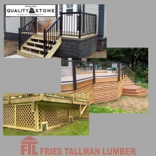 Deck skirt adds a professional finishing touch to your deck and helps protect against animals living under your deck. Stone? Wood? Lattice? Or something completely different? What's your preference?  #friestallman #yqr  #deckdesign #yard #decks #decklife