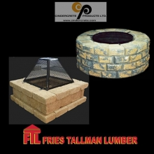 "The fact is that people love to gather around fire. And if you're looking for an excuse to invite people, all you need to say is ""We're lighting up the fire pit tonight. Want to come over?"" #friestallman #fortquappelle #landscaping #firepit #summe"