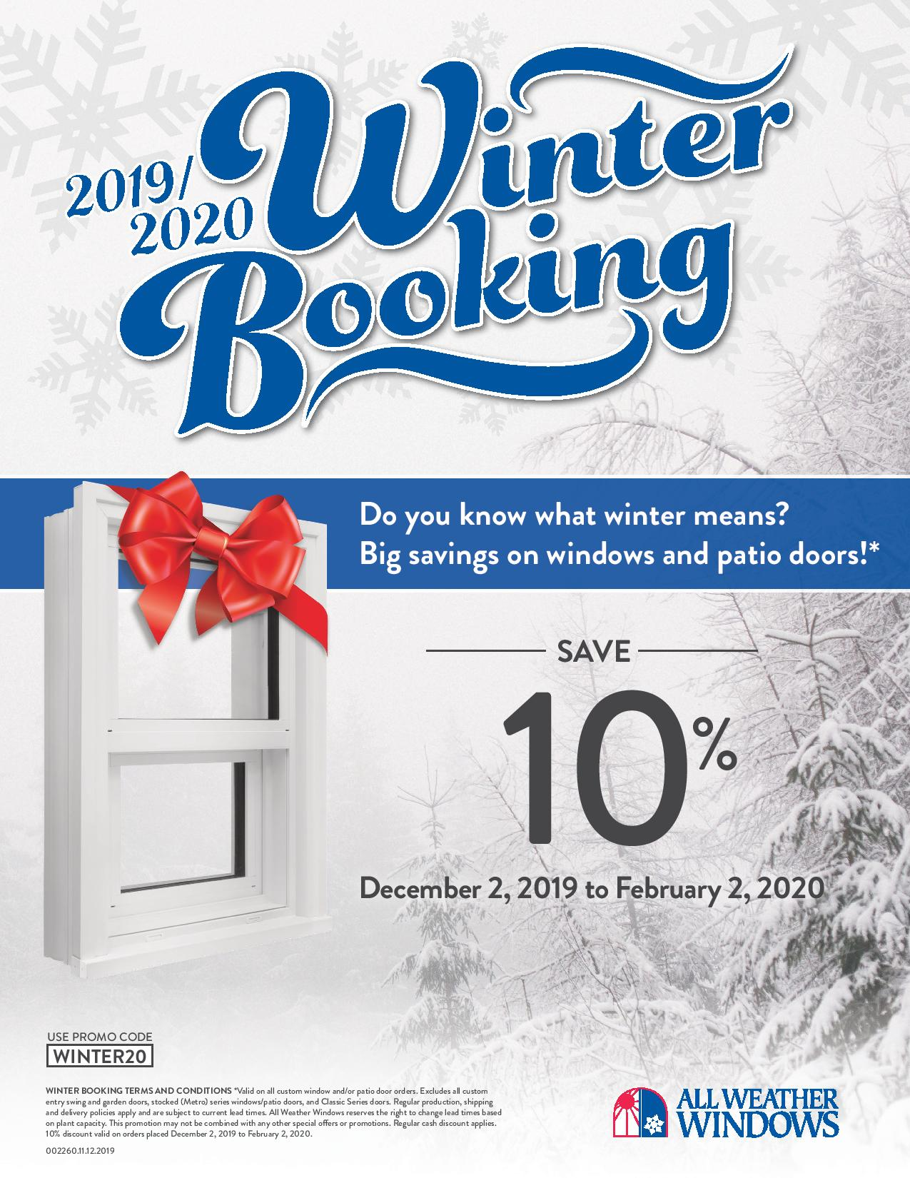 AWW 2020 winter booking